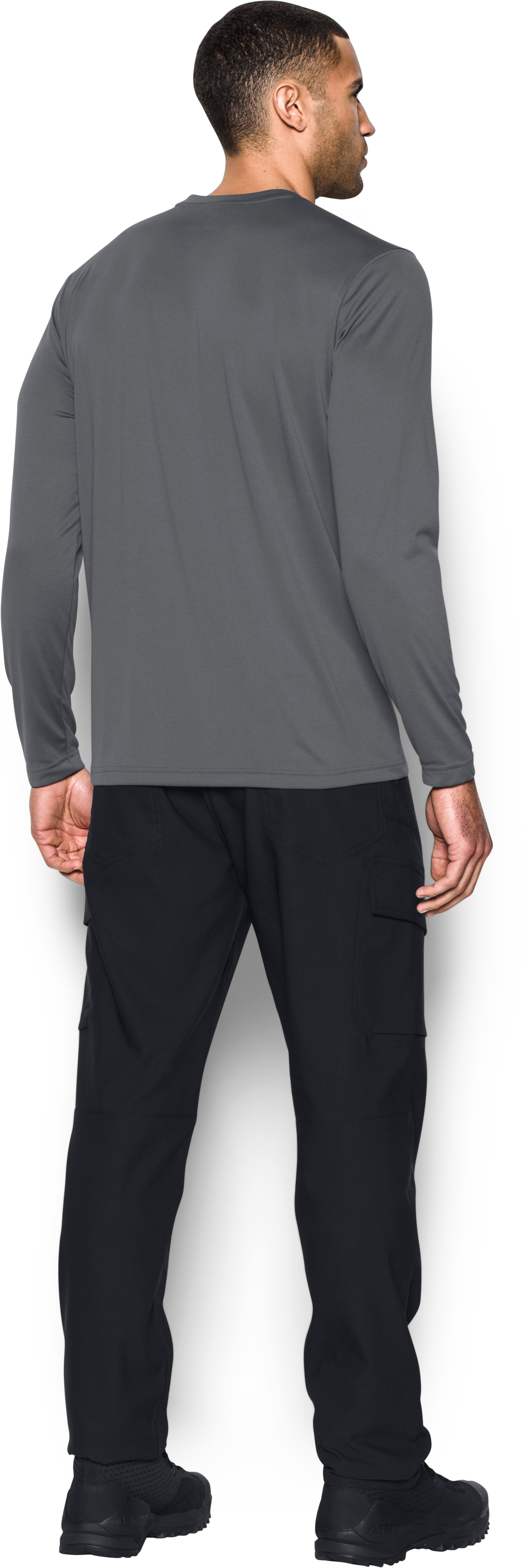 Men's Tactical UA Tech™ Long Sleeve T-Shirt, Graphite, Back