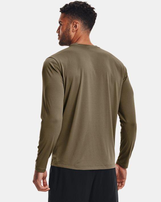 Men's Tactical UA Tech™ Long Sleeve T-Shirt, Brown, pdpMainDesktop image number 4