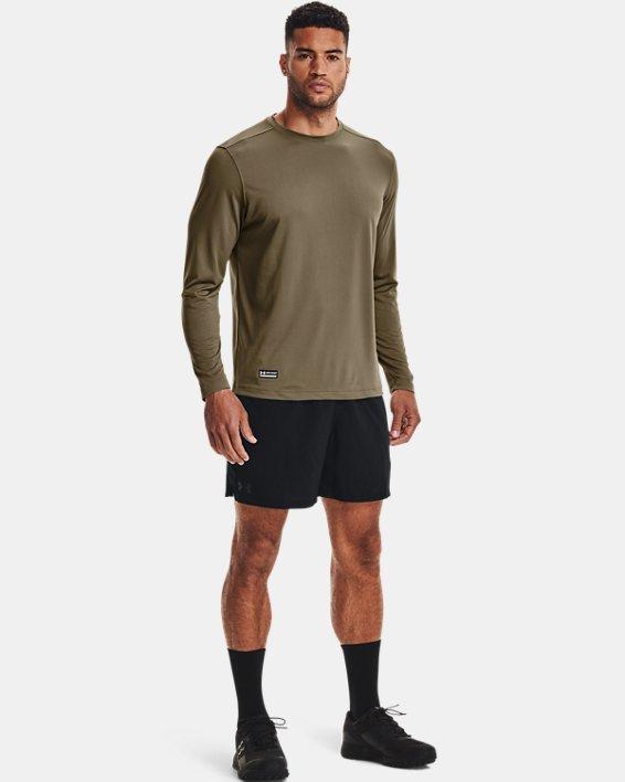 Men's Tactical UA Tech™ Long Sleeve T-Shirt, Brown, pdpMainDesktop image number 3