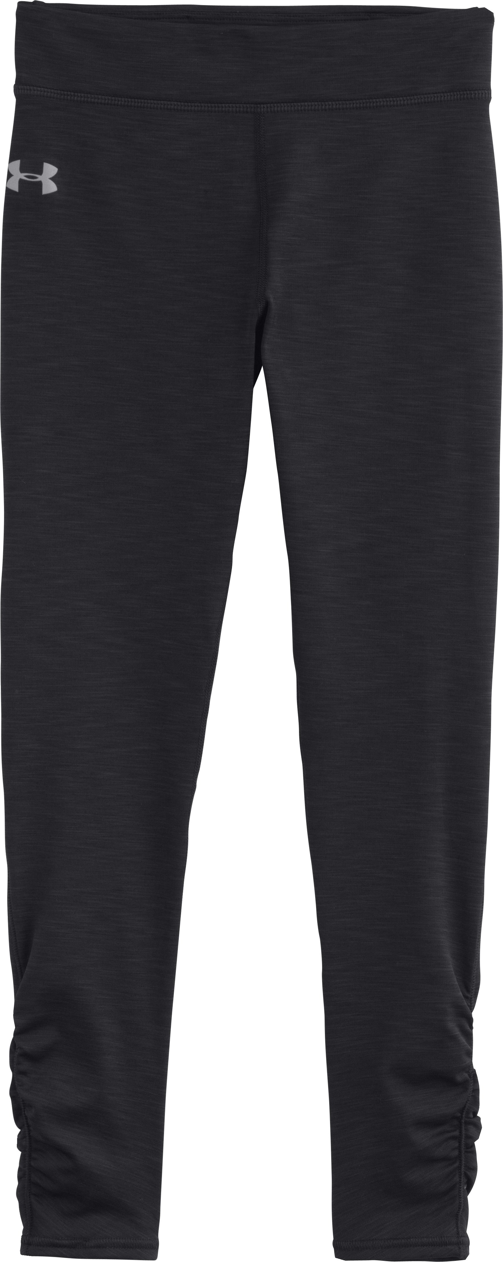 Girls' ColdGear® EVO Mélange Tight, Black , Laydown