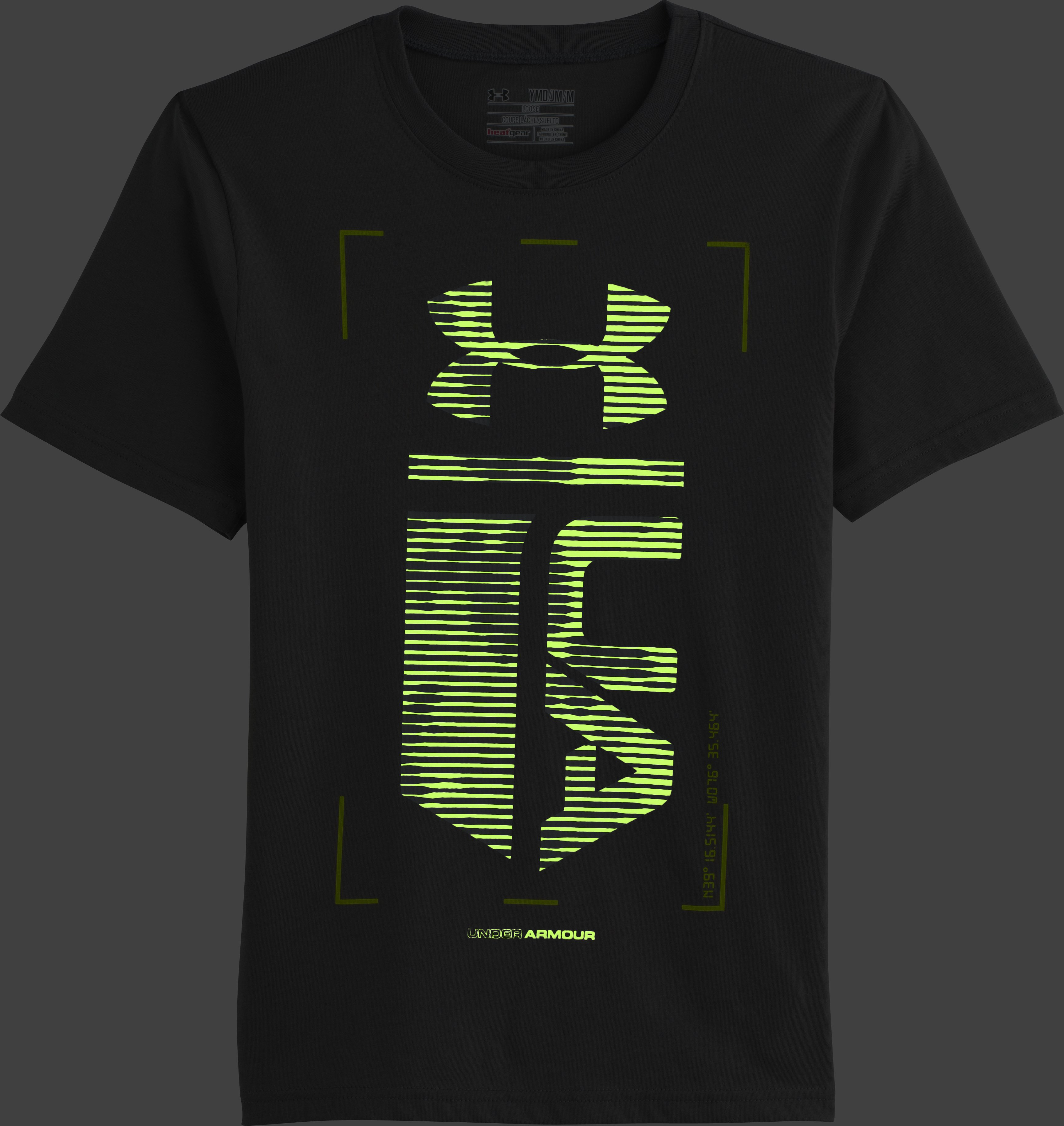 Boys' UA Double Time T-Shirt, Graphite, zoomed image