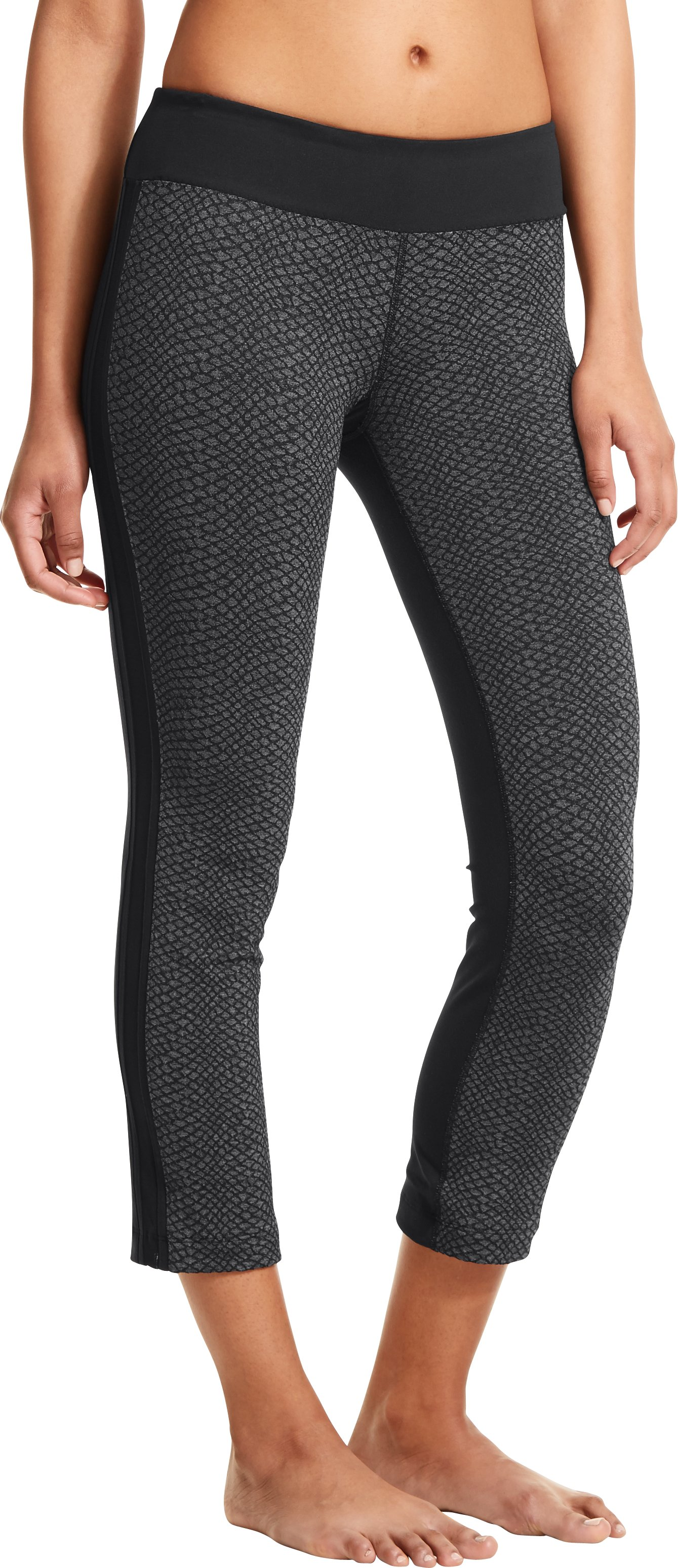 Women's UA StudioMod Pencil Crop Pant, Asphalt Heather