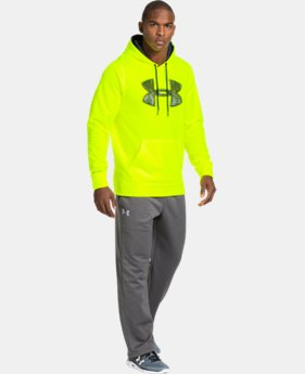Men's UA Storm Armour® Fleece Gametime Big Logo Hoodie  1 Color $32.99