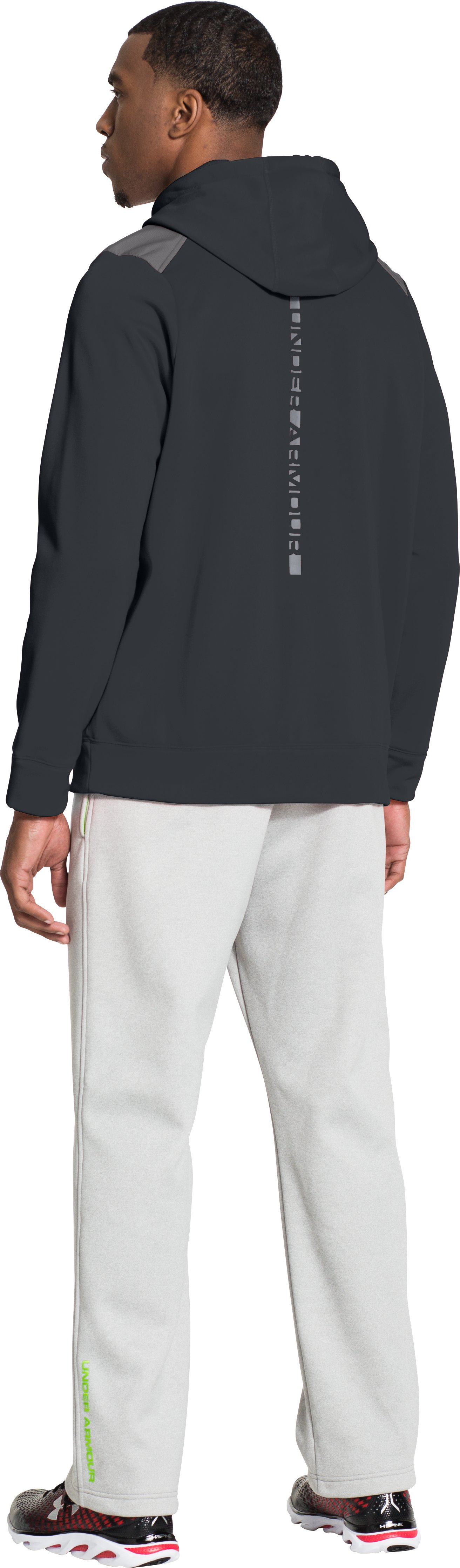 Men's UA Storm Armour® Fleece Marauder Hoodie, ANTHRACITE, Back