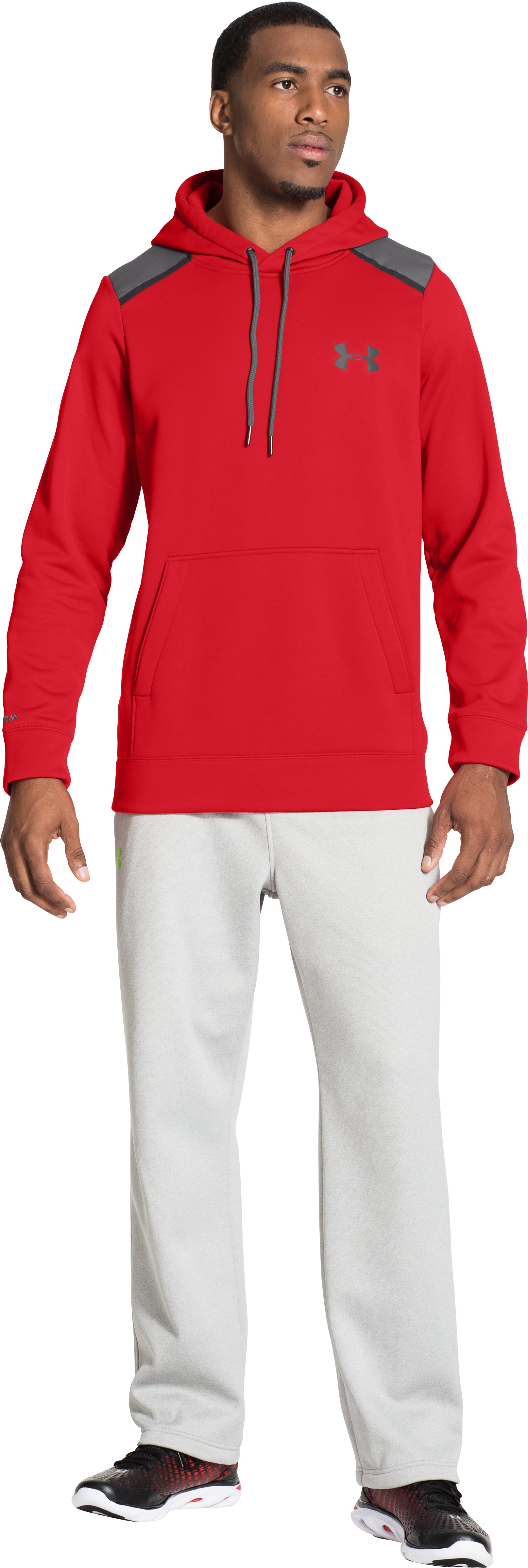 Men's UA Storm Armour® Fleece Marauder Hoodie, RISK RED, Front