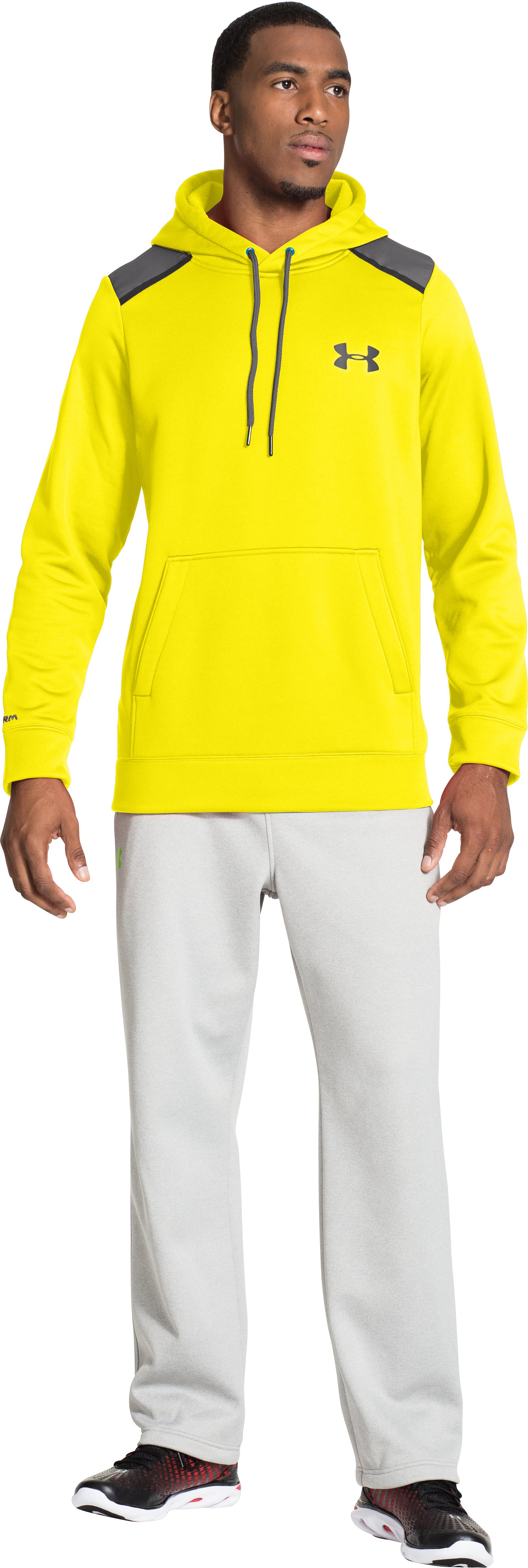 Men's UA Storm Armour® Fleece Marauder Hoodie, Sunbleached, Front