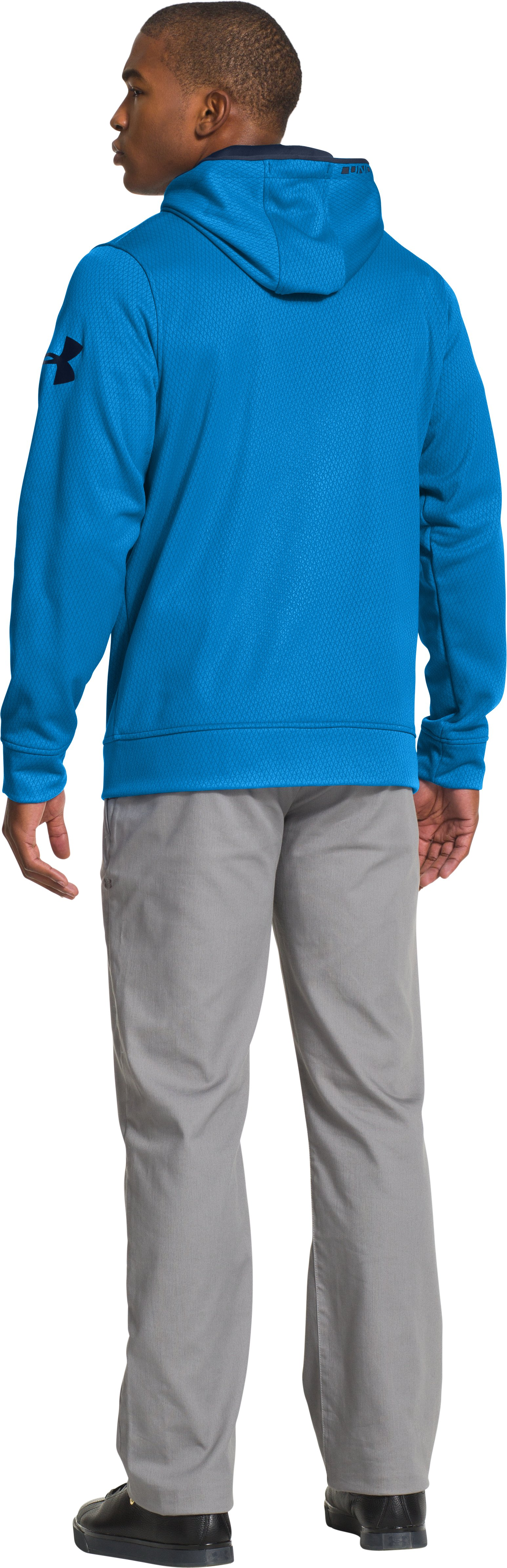 Men's Armour® Fleece Keepyafresh Hoodie, ELECTRIC BLUE, Back