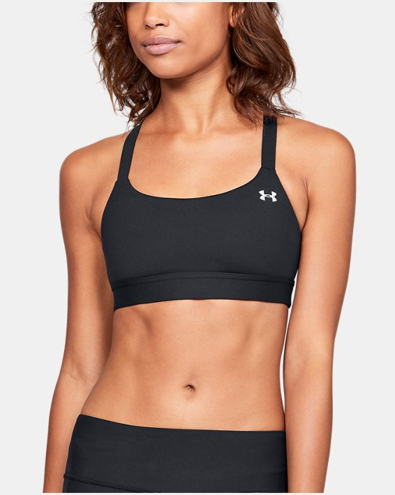 Women's Armour™ Eclipse Mid Sports Bra, Black, pdpMainDesktop image number 0