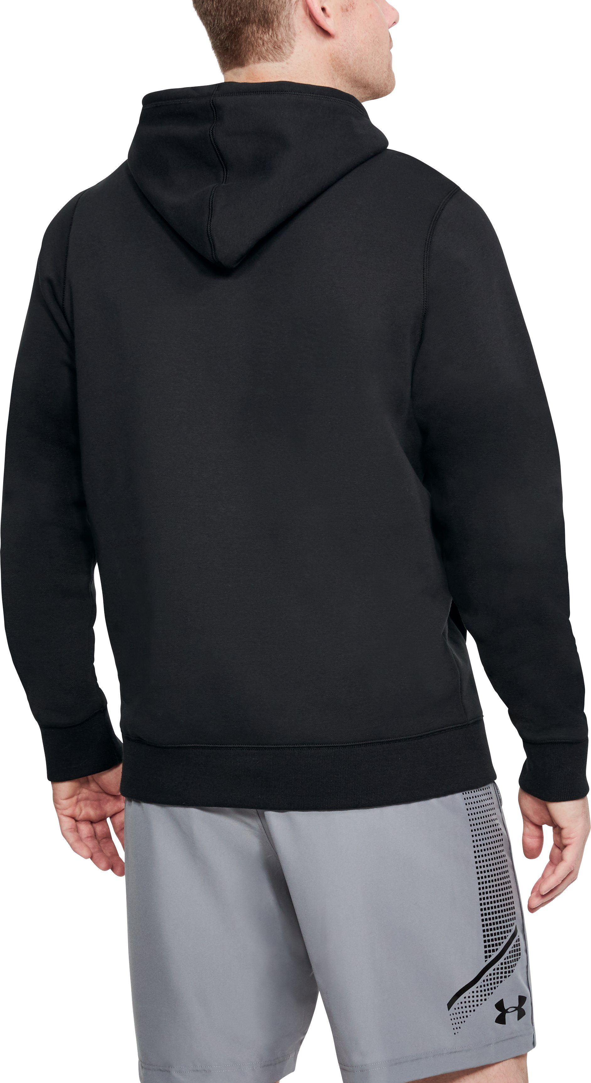 Men's UA Rival Fleece Hoodie, Black , undefined