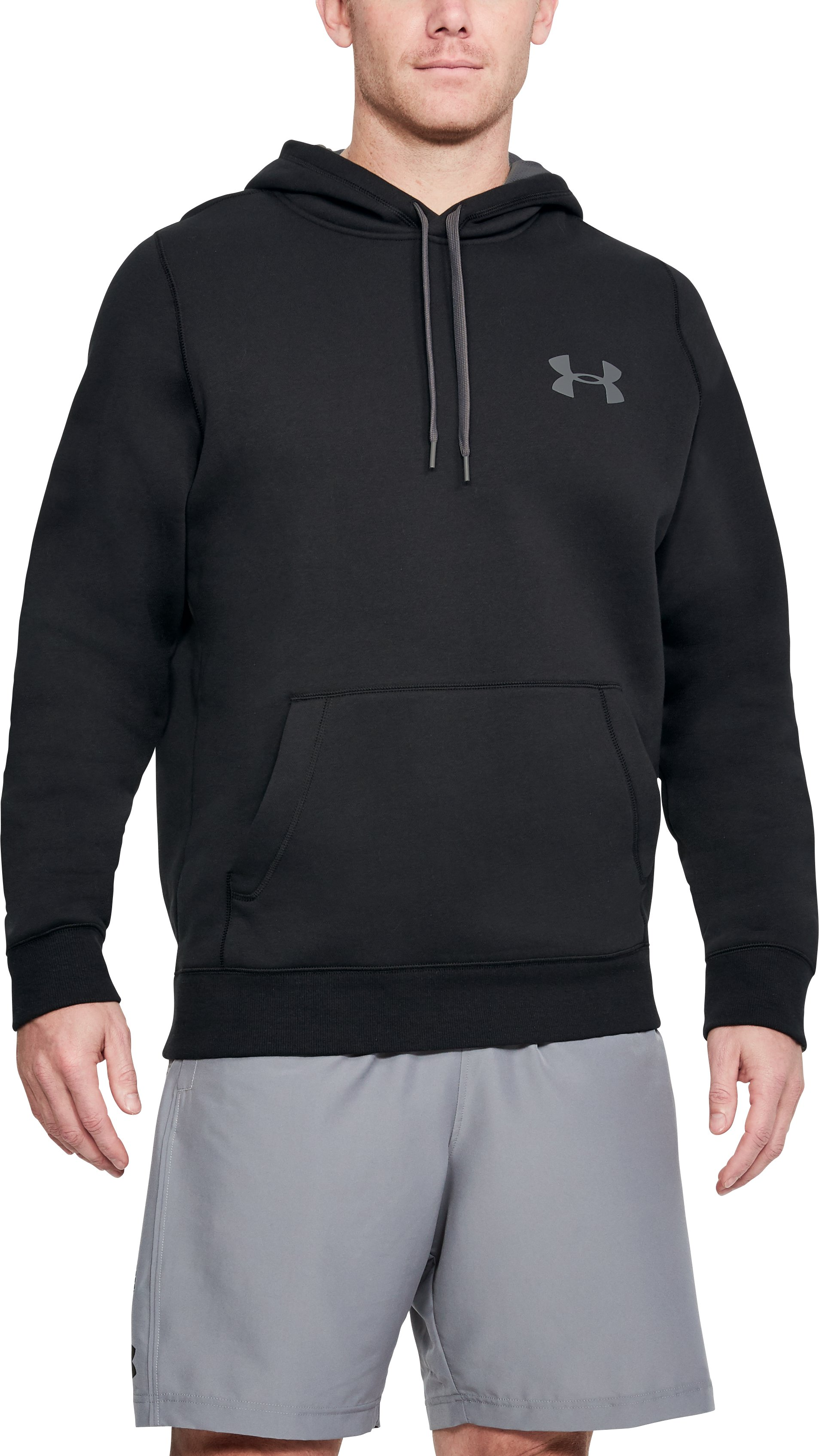 Men's UA Rival Fleece Hoodie, Black