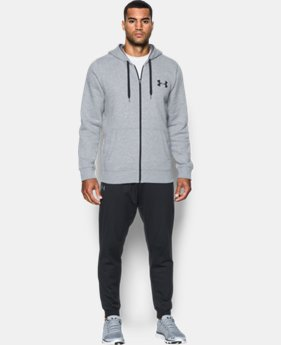 New Arrival Men's UA Rival Fleece Zip Hoodie  2 Colors $54.99