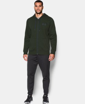 New Arrival Men's UA Rival Fleece Zip Hoodie  1 Color $54.99