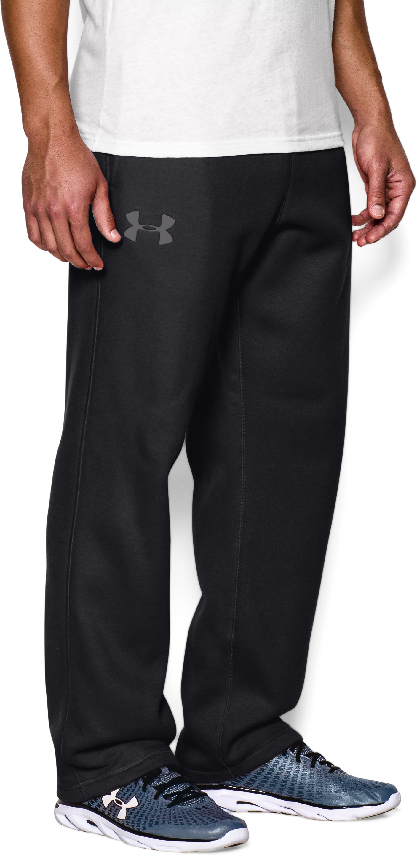 Men's UA Rival Fleece Pants, Black , undefined