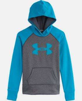 Girls' Armour® Fleece Storm Big Logo Hoodie