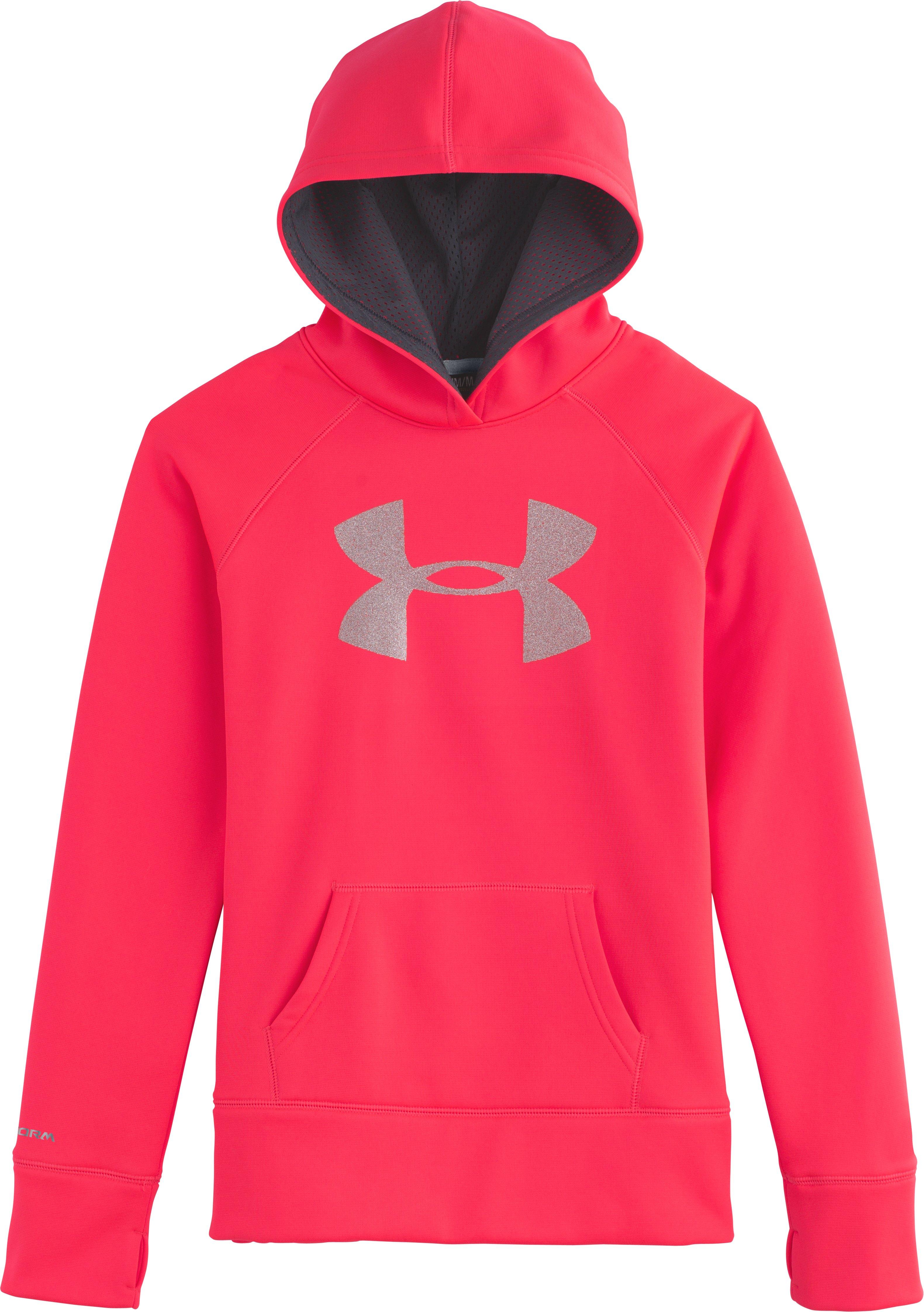 Girls' Armour® Fleece Storm Big Logo Hoodie | Under Armour US