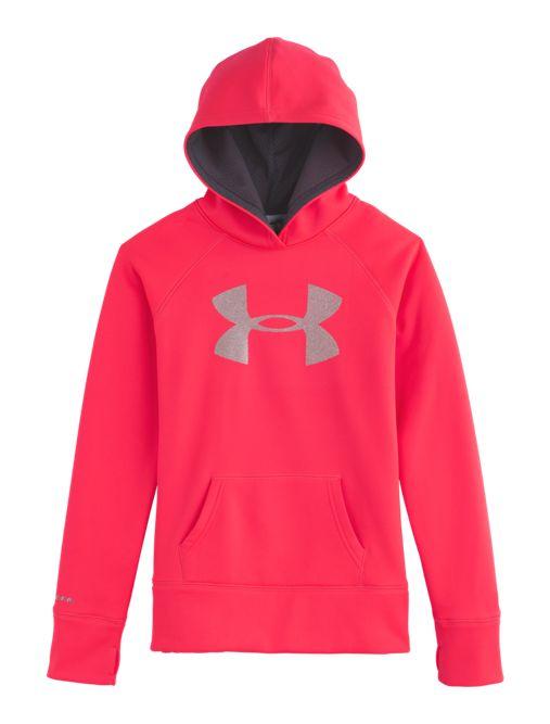 Girls' Armour® Fleece Storm Big Logo Hoodie   Under Armour US
