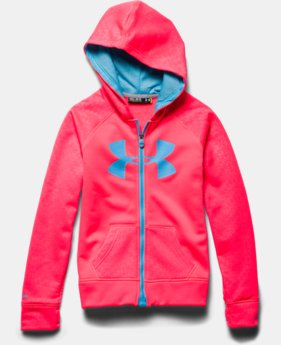 Girls' UA Storm Armour® Fleece Big Logo MagZip Hoodie