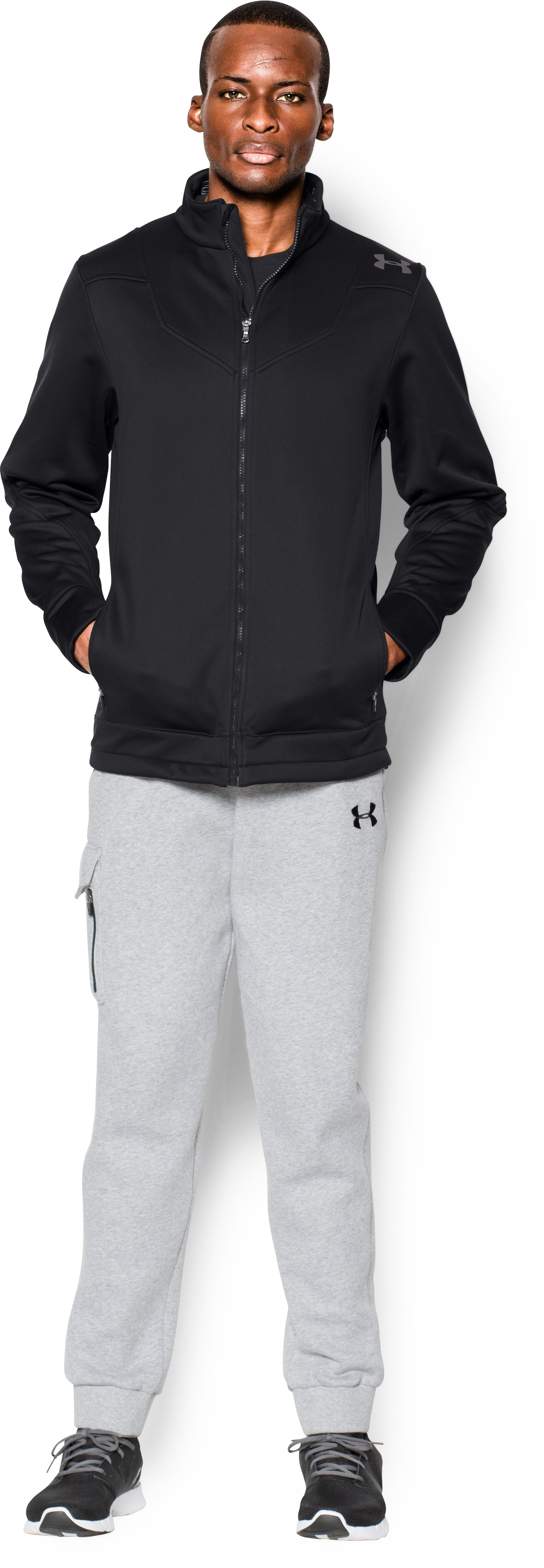 Men's UA Storm High Post Jacket, Black , Front