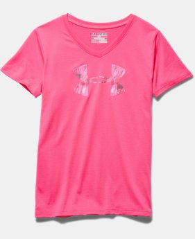 Girls' UA Tech™ Big Logo V-Neck
