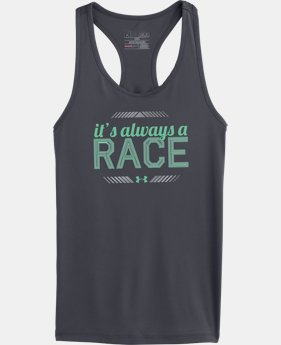 Girls' UA Always A Race Graphic Tank