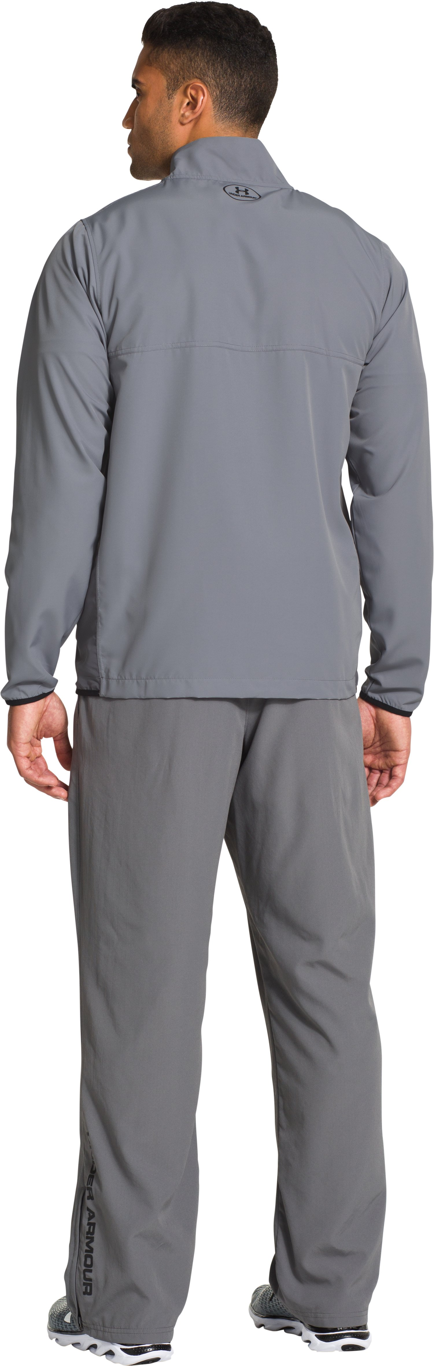 Men's UA Vital Warm-Up Jacket, Steel, Back