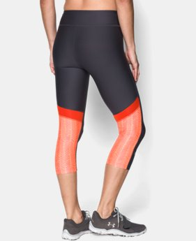 "Women's UA HeatGear® Armour 17"" Novelty Capri"