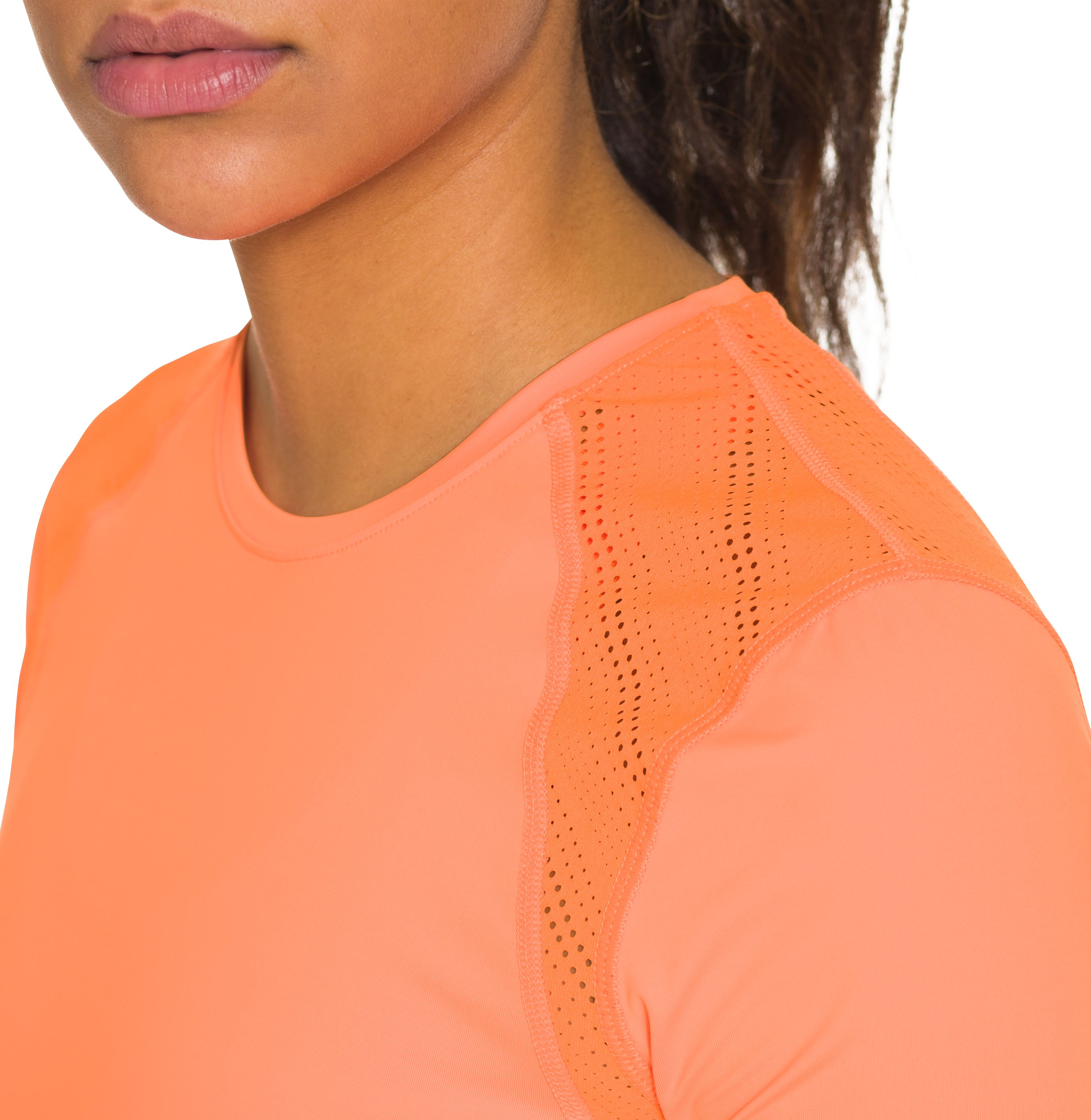 Women's UA HeatGear® ArmourVent™ Short Sleeve, CITRUS BLAST