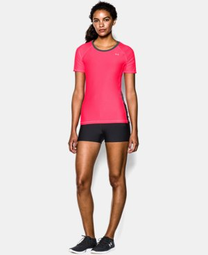 Women's UA HeatGear® Armour Printed Short Sleeve  1 Color $17.99