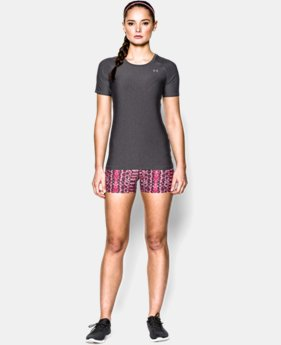 New Arrival  Women's UA HeatGear® Armour Short Sleeve  1 Color $29.99