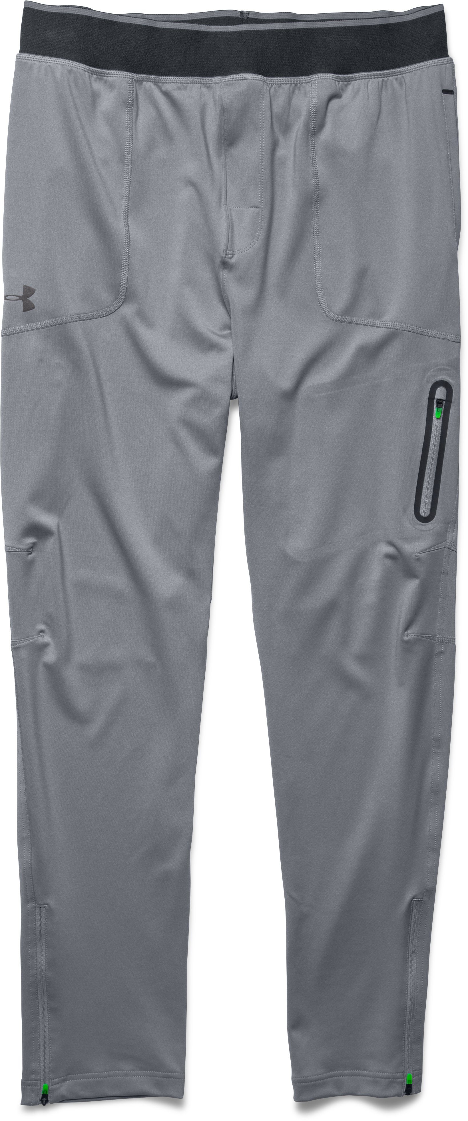 Men's UA Capital Knit Pants – Tapered Leg, Steel, Laydown