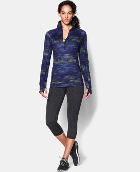 Women's UA ColdGear® Cozy Printed ½ Zip
