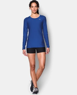 New Arrival  Women's UA HeatGear® Armour Long Sleeve LIMITED TIME: FREE SHIPPING 2 Colors $34.99