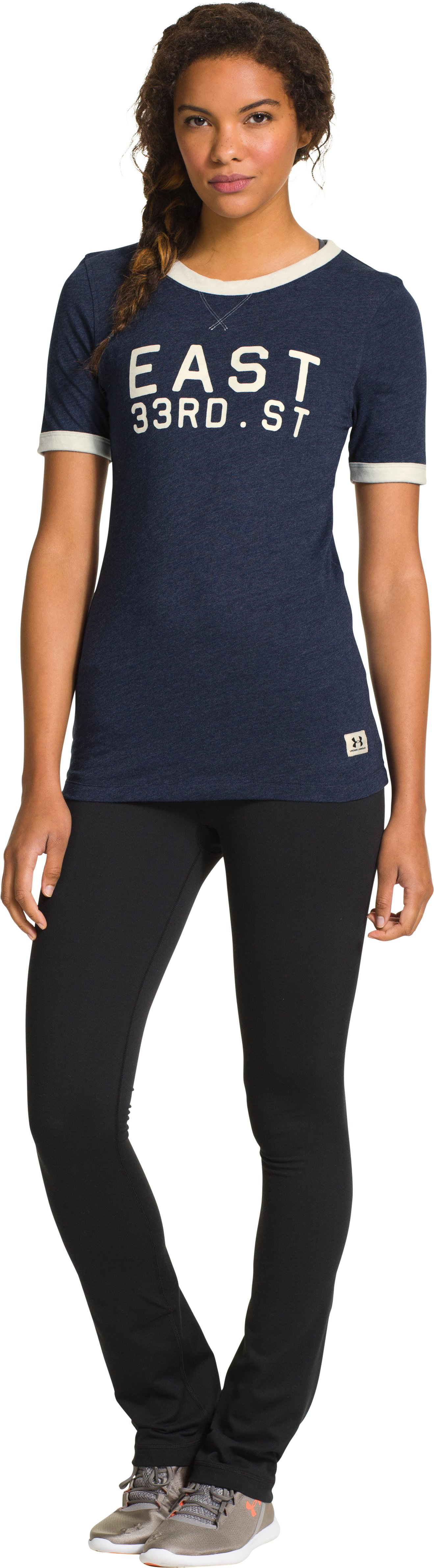 Women's Under Armour® Legacy Graphic Crew, Academy, Front