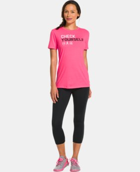Women's UA Power In Pink® Check Yourself T-Shirt  1 Color $17.99