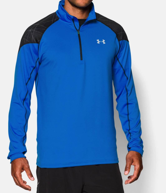 Men s ua coldgear infrared run zip under armour us for Do under armour shirts run small