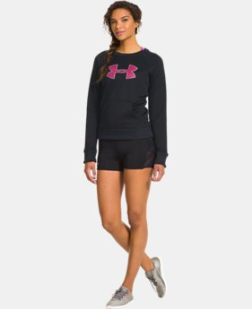 Women's  UA Big Logo Letterman Crew  1 Color $32.99