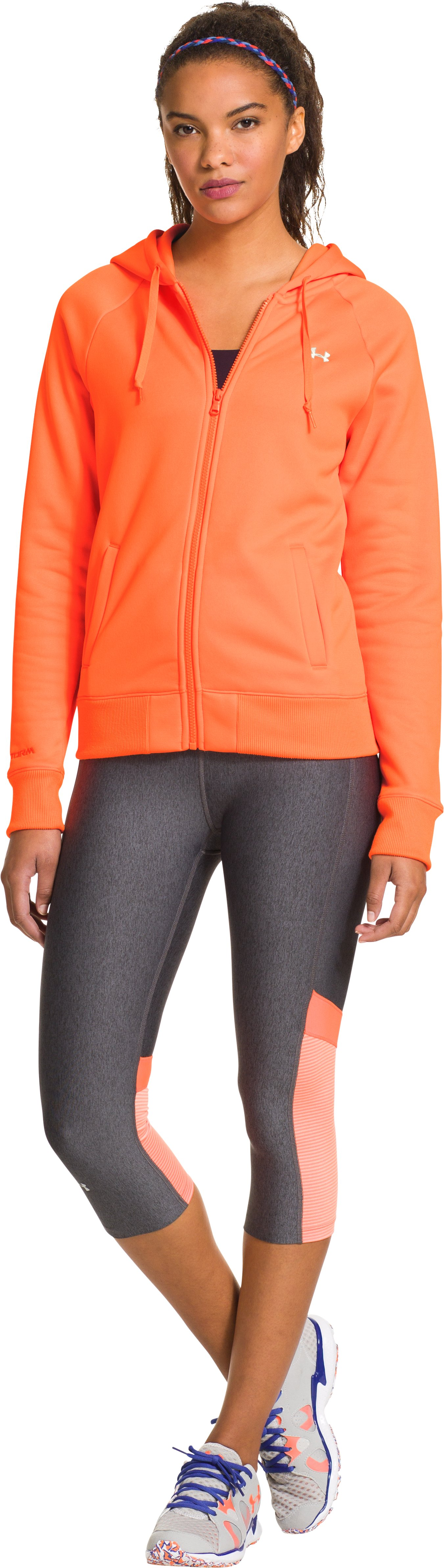 Women's  Armour Fleece® Full Zip Hoodie, CITRUS BLAST
