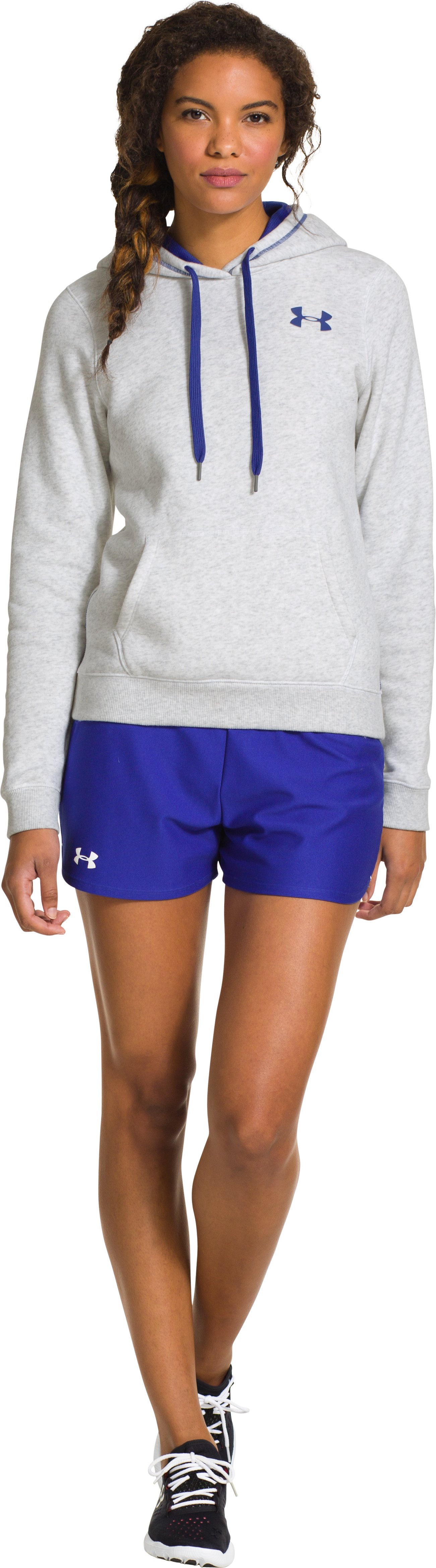 Women's UA Rival Cotton Hoodie, Silver Heather, zoomed image