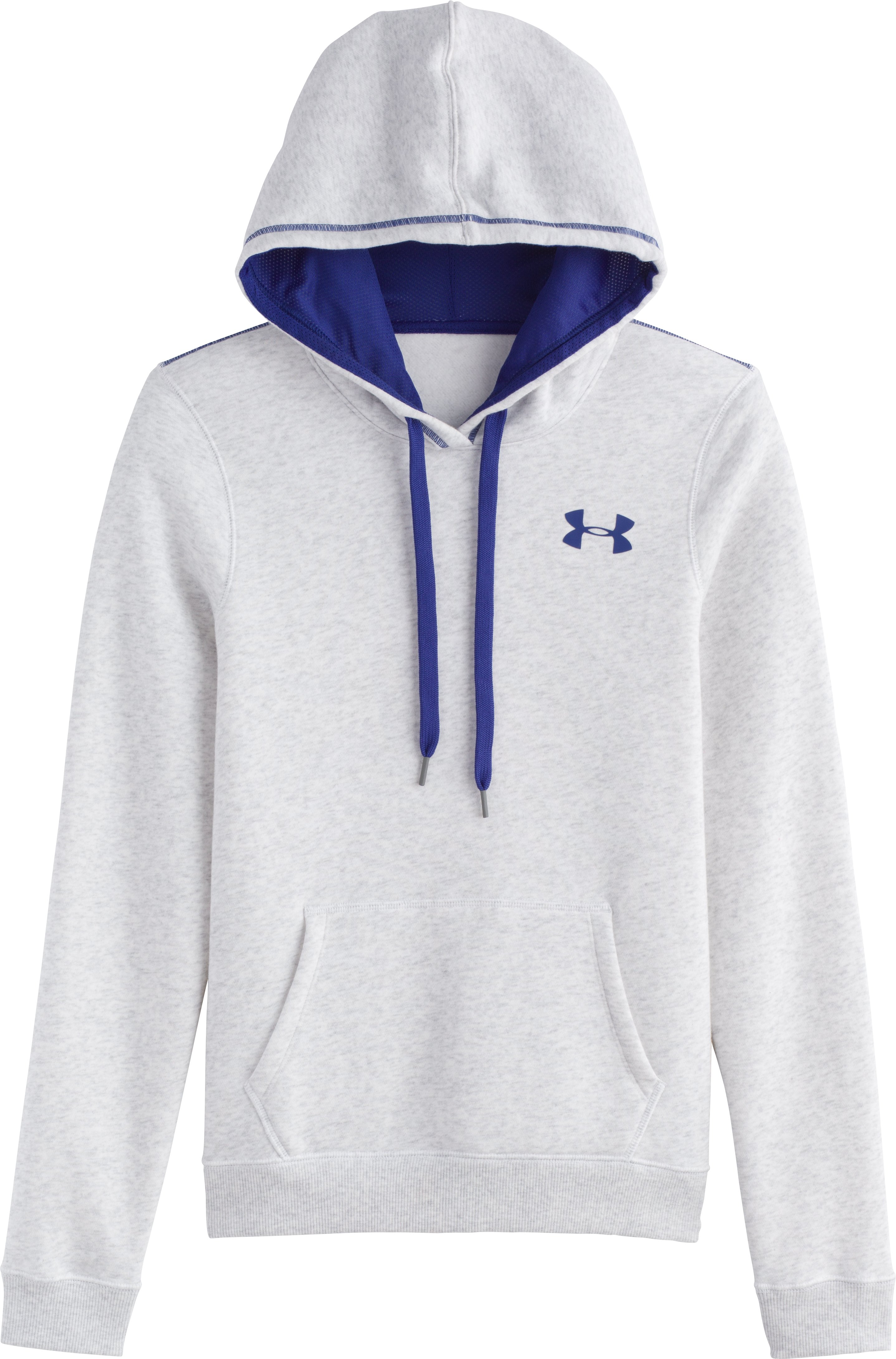 Women's UA Rival Cotton Hoodie, Silver Heather, Laydown