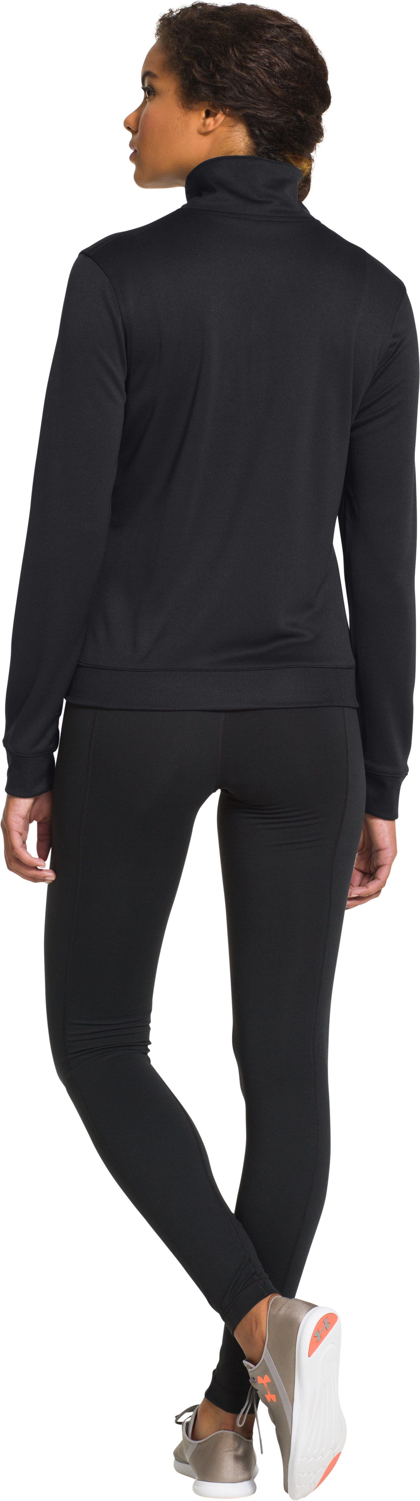 Women's UA Compete Full Zip Jacket, Black , Back