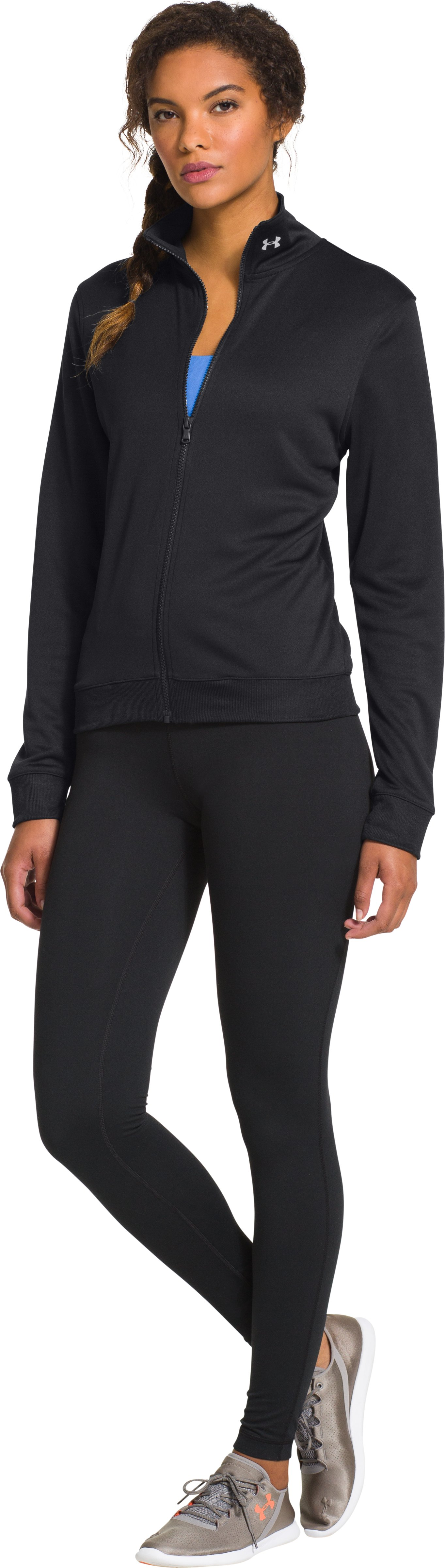 Women's UA Compete Full Zip Jacket, Black , Front