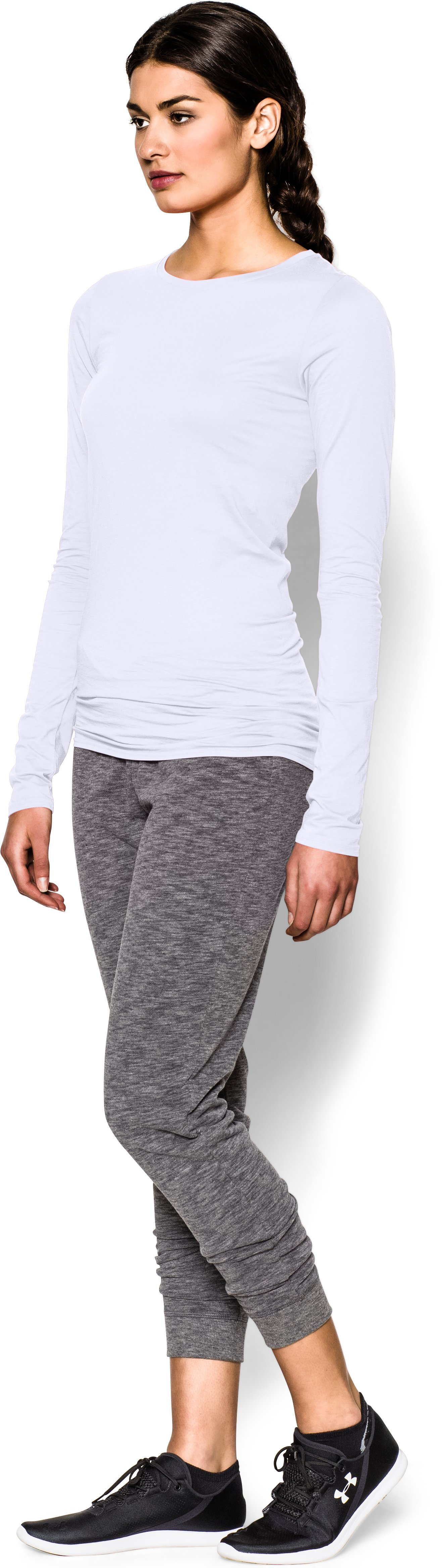 Women's UA Long & Lean Long Sleeve, White