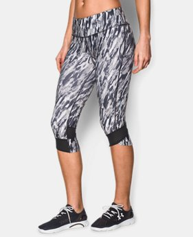 Women's UA Printed Fly-By Compression Capri  1 Color $40.99 to $41.99