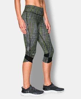 Women's UA Printed Fly-By Compression Capri