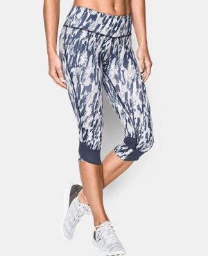 Women's UA Printed Fly-By Compression Capri LIMITED TIME: FREE U.S. SHIPPING 1 Color $31.49 to $41.99