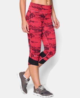 Women's UA Printed Fly-By Compression Capri LIMITED TIME: FREE U.S. SHIPPING 1 Color $41.99