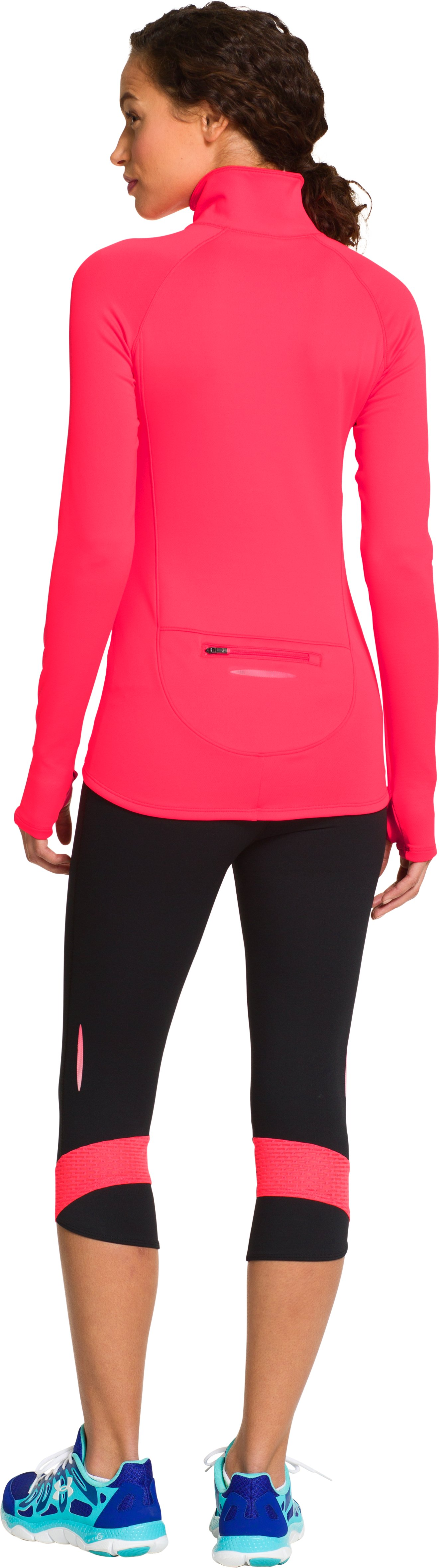 Women's UA Qualifier 1/2 Zip, Neo Pulse, Back