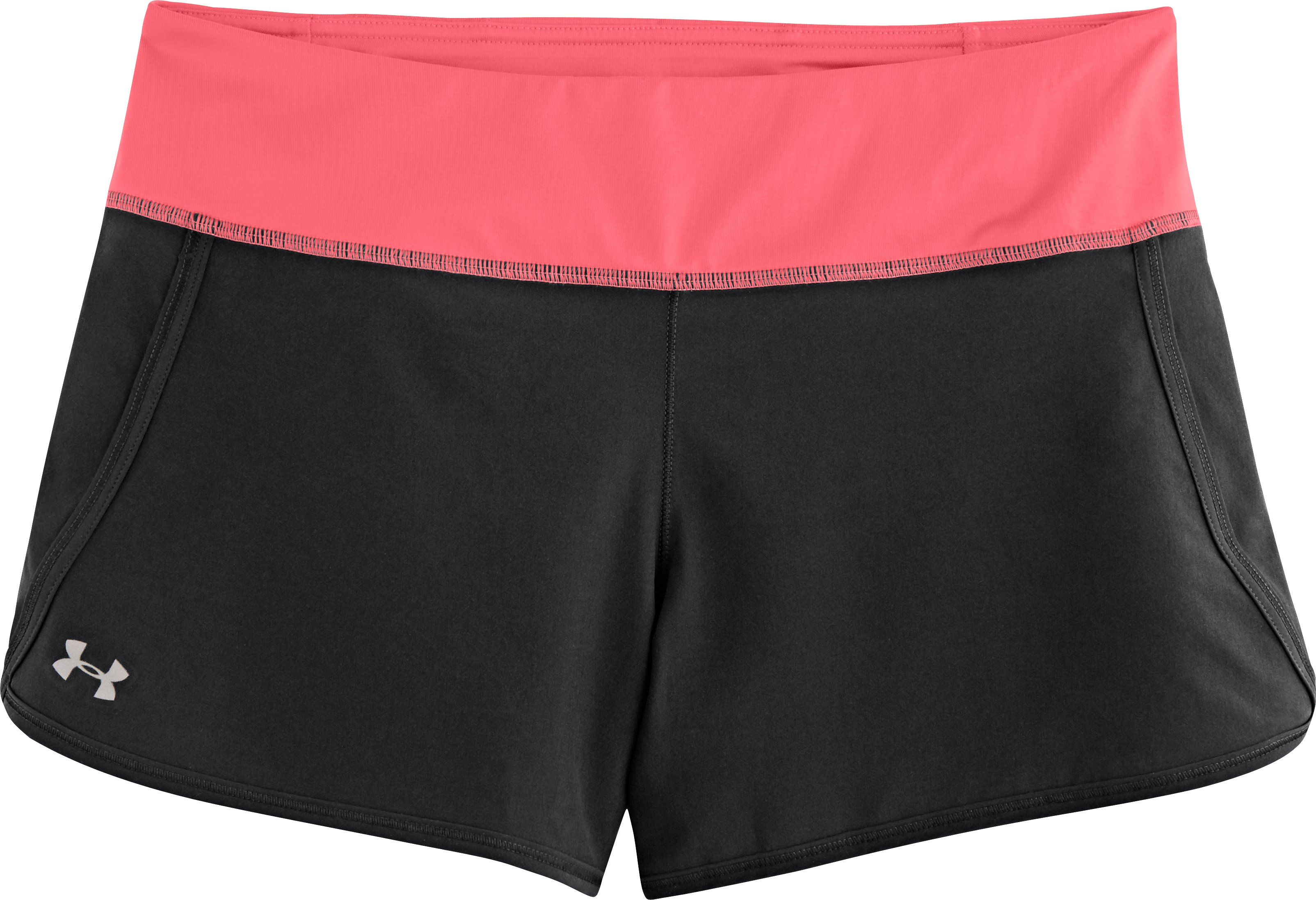 Women's UA Get Going Shorts, Black , Laydown