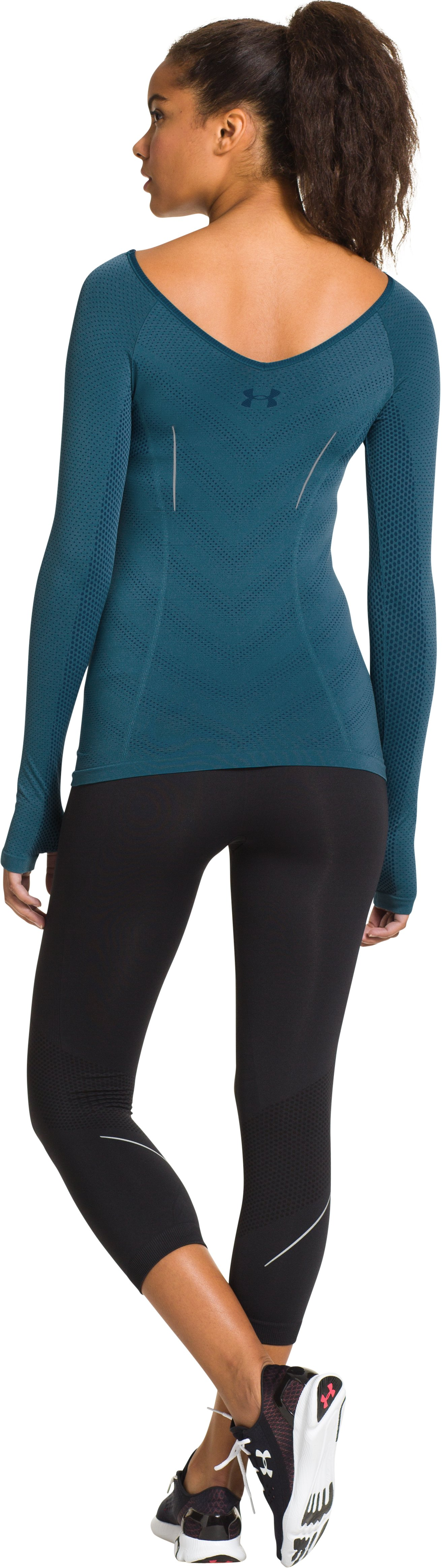 Women's UA Run Seamless Long Sleeve, LEGION BLUE, Back