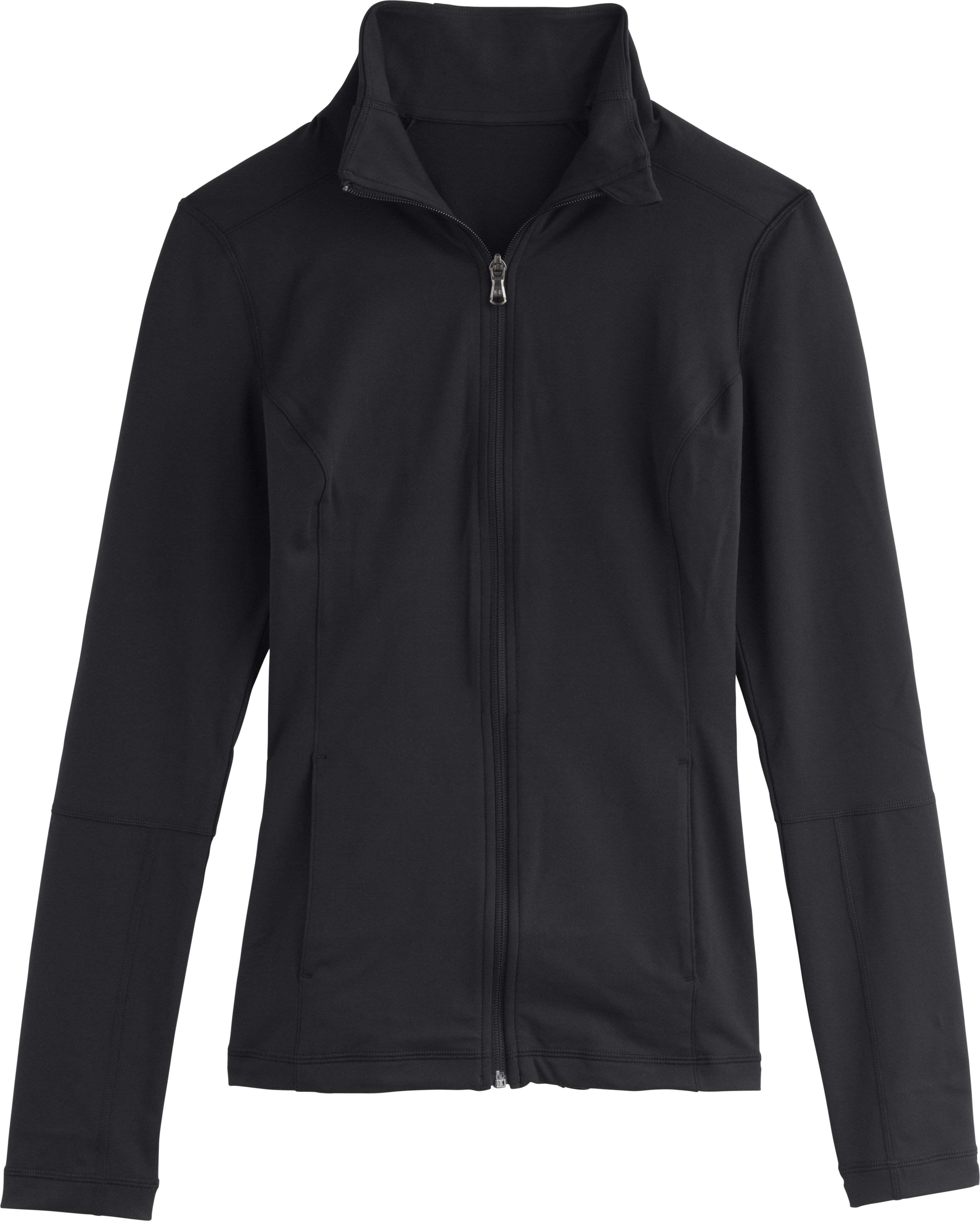Women's UA Essential Studio Jacket, Black , Laydown